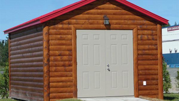 Fabrication de cabanons remises et garages les remises for Prix cabanon bois